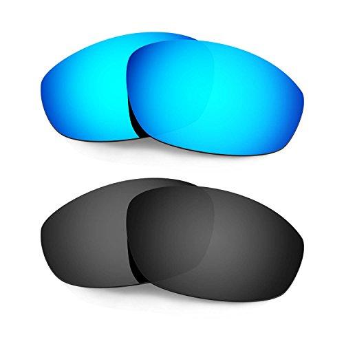 HKUCO Verstärken Ersatz-Brillengläser für Oakley Whisker Sonnenbrille Blau/Schwarz TAC Polarisiert