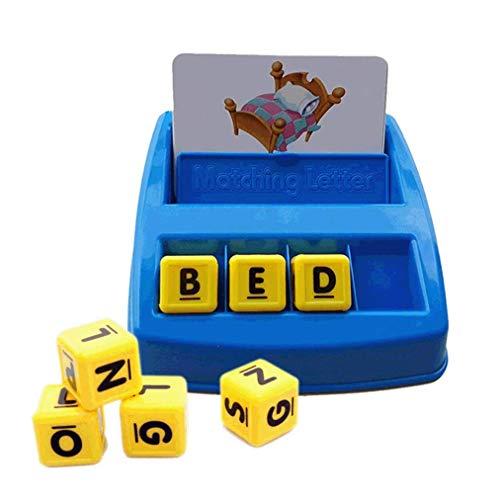 Poualss Match Spell Board Game Alphabet Letter Word Rechtschreibung Spiele für Kinder Familien Spaß Entwicklungs Puzzle-Spiele