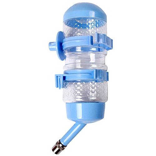 Botella de agua para perros 500ml (17.5oz) no goteo mascota bebedores gatos mascota colgantes alimentadores de agua dispensador de agua potable por JoyDaog, purplered