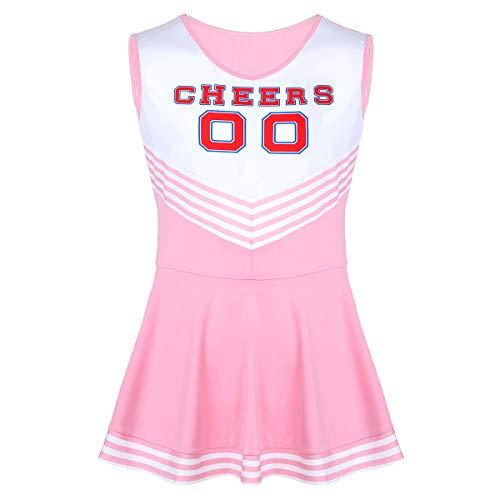 Alvivi Cheerlead Herren Kostüm Blau/Rosa Cosplay Cheer Kleid Trikot Sport Tanz Kleider Männer Performance Karneval Verkleidung A Rosa - Hip Hop Tanz Uniformen Und Kostüm