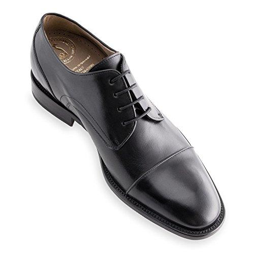 Masaltos - Chaussures rehaussantes pour homme. Jusqu'à 7 cm plus grand! Modèle Birmingham Noir