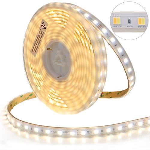 LEDENET 5M SMD5050 LED CCT 2-in-1 24V 60W 300LEDs Kaltweiß + Warmweiß Dual White LED Stripe(Wasserdicht IP67) Dual-white Led