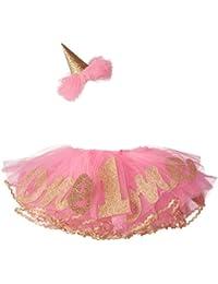 Mud Pie Baby Girls' Glitter Party Hat Headband and Tutu Set