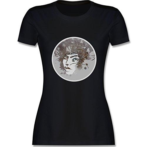 Sonstige Berufe - Circle mind - creative brainstorming - tailliertes Premium T-Shirt mit Rundhalsausschnitt für Damen Schwarz