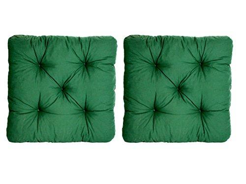 Ambient home Lot de 2 Galettes de chaise EVJE Vert 50 x 50 x 8 cm 90362