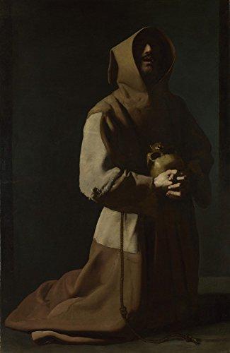Das Museum Outlet–Francisco de Zurbarán–St. Francis in Meditation (1)–Poster Print Online kaufen (101,6x 127cm)