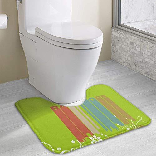 Hoklcvd Retro Baltimore MD Skyline U-förmige Toilette Bodenteppich Rutschfeste Toilette Teppiche Badematte Teppich