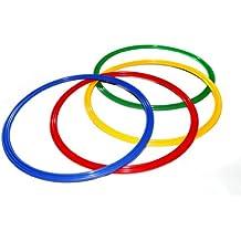 Boje Sport - Lote de aros planos para gimnasia rítmica (4 unidades, 70 cm de diámetro), 4 colores