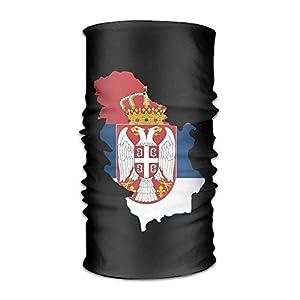No Soy Como Tu Sturmhauben Map of Serbia Flag Headwrap Unisex Multifunction Headwear Polyester Quick Dry Soft Headband Neck Scarf,Cool Headdress Outdoors