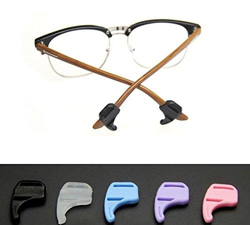 Silica Gel Brillen verhindern rutschigen Set Zubehör Brillen Beine Set von 6Stück 3Paar
