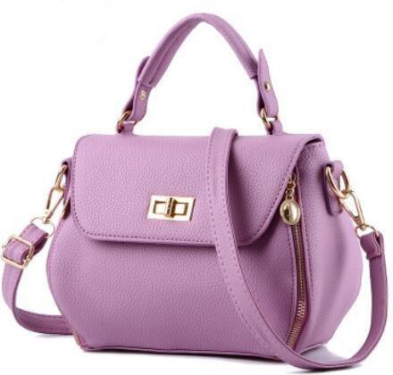 HQYSS Borse donna PU cuoio coreano stereotipi ms. spalla Messenger Borsa quadrato piccolo pacchetto , days blue purple taro