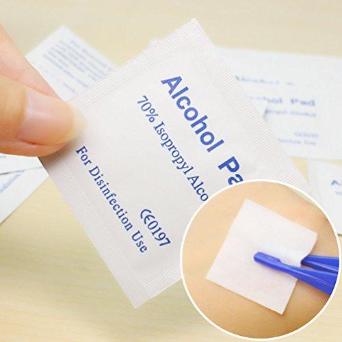 100 Teile / schachtel Alkohol Wischen Pad Medizinische Tupfer Sachet Antibakterielle Tool Cleanser (Medizinische Alkohol)