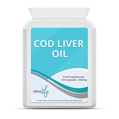 Cod Liver Oil 550mg - 120 Capsules by Neulife Health & Fitness Supplements