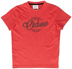 Oxbow Disc T-Shirt manches courtes garçon Pale Red FR : 16 ans (Taille Fabricant : 16A)
