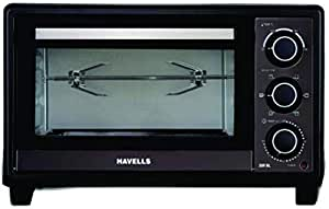 Havells 28R BL 1500W Stainless Steel Oven Toaster Grill (Black)