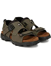 Emosis Men's Stylish 0181 Tan Brown Color Formal Casual Ethnic Office Party Wear Fancy Sandal