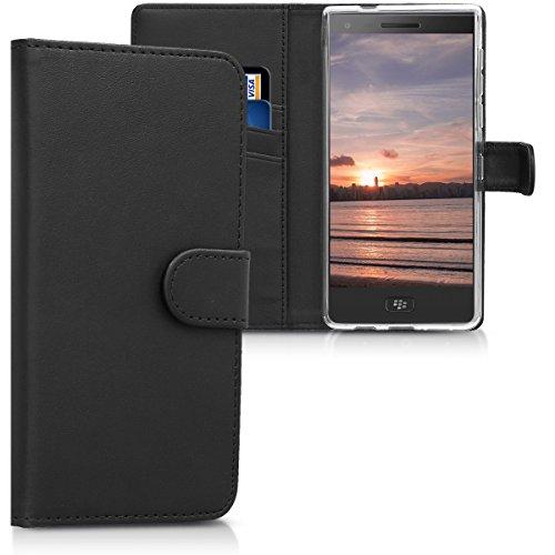 kwmobile BlackBerry Motion Hülle - Kunstleder Wallet Case für BlackBerry Motion mit Kartenfächern und Stand