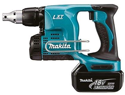 Makita DFS450Y1J 4000RPM 18V Ión de litio Negro, Azul pistola atornilladora y - Destornillador (18 V, Ión de litio, 1500 mAh, 80 mm, 258 mm, 193 mm)