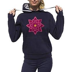 Lotus, Mandalas y Meditación en Azul Marino. Talla Mediana.