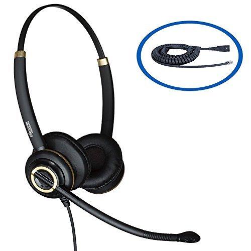 Entdecken D712Binaural Headset für Avaya IP Telefone, 1608, 1616, 9601, 9608, 9610, 9611, 9611G, 9620, 9620C, 9620l, 9621, 9630, 9640, 9640, G, 9641, 9650, 9650C, 9670 Ip Wireless Headset