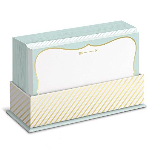 flat-notes-arrow-briefkarten-mit-kuverts-fur-vielfaltige-anlasse-goldener-pfeil-50-ansprechende-kart
