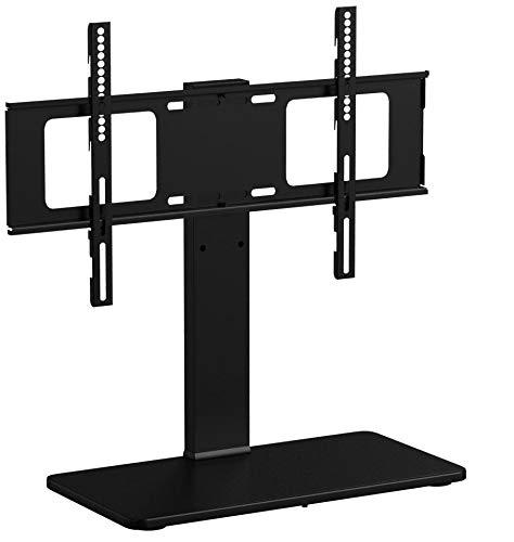 1home LCD/LED TV Ständer Fernsehtisch Standfuss Glas Standfuß Halterung Ständer Höhenverstellbar Fernsehstand LED Fernseher Stand Flachbildschirm Aufsatz Möbel Rack Tischständer Universal für 32 - 60 Zoll