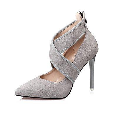RTRY Scarpe Da Donna In Pelle Scamosciata Comfort Caduta Tacchi Stiletto Heel Punta Fibbia Per Vestire Kaki Mandorla Nero Grigio US6.5-7 / EU37 / UK4.5-5 / CN37