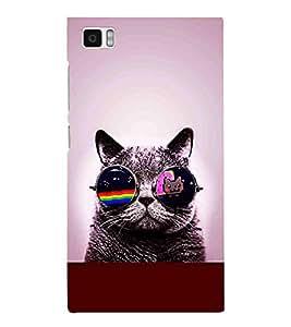 For Xiaomi Redmi Mi3 beautiful cat ( beautiful cat, cat, sunglass, cute cat ) Printed Designer Back Case Cover By CHAPLOOS