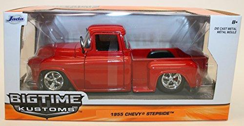1955 Chevy Stepside Pickup Truck 1/24 - Metallic Red