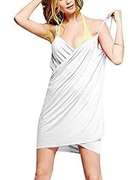 Mini Vestidos para Mujer sin Espalda Vestidos de Playa Cortos Vestidos