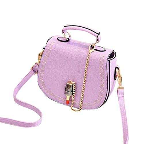 Baymate Frauen Handtaschen Schulter Tasche Beiläufige Handtaschen Umhängetasche Hell Violett