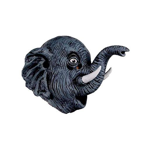Mascaras Animales, Máscara De Goma De Látex De Elefante para Adultos Disfraces De Halloween Máscara De Fiesta De Disfraces De Animales Divertidos - para Cosplay