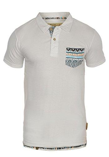 Indicode Alastair Herren Poloshirt Polohemd T-Shirt Shirt Mit Polokragen, Größe:XL, Farbe:Off-White (002)