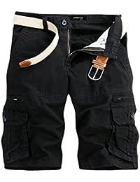 GreatestPAK Pants Pure Color Shorts Herren Outdoor Taschen Strand Arbeit  Hosen Cargo Pant ee7e92b261