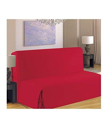 Homemaison - F516-52 - Schlafsofabezug mit verdeckten Schleifen - Rot