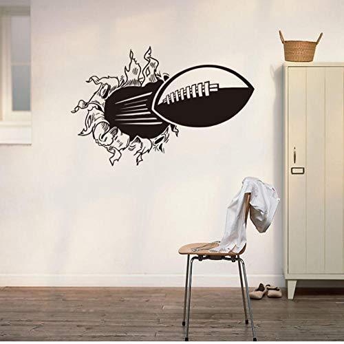 3D Rugby Fußball Durch die wandaufkleber für kinder wohnzimmer sport dekoration wandbild wandaufkleber abziehbilder tapete 43 * 66 cm - 66 Rugby