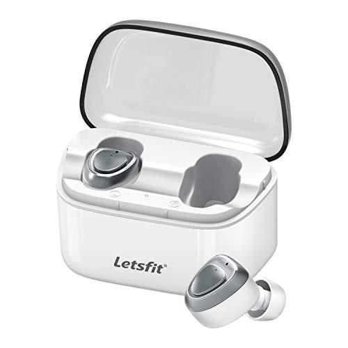 Bluetooth Kopfhörer In Ear, Letsfit True Wireless Mini Headset, Bluetooth 5.0 Drahtlose Sport Ohrhörer, mit Portable Mini Ladebox, Integriertem Mikrofon, 13.5H Arbeitszeit MEHRWEG*