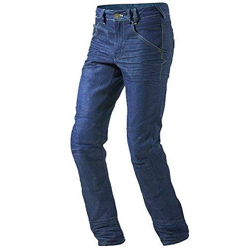JET Pantalon Moto Hombre Jeans Kevlar Aramid Con Armadura (56 Largo/Cintura 40