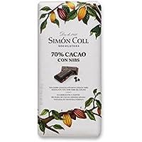 Simón Coll - Tableta de chocolate (70% cacao con nibs) - 85 gr.