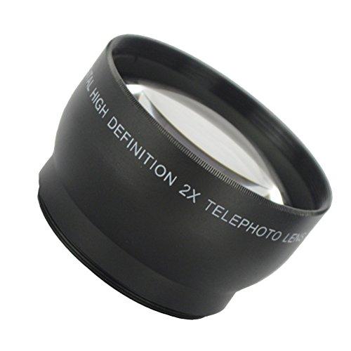 LEDMOMO Accesorio de lente telefoto 2X 58mm para Canon Nikon y todas las lentes de cámara de 58 mm