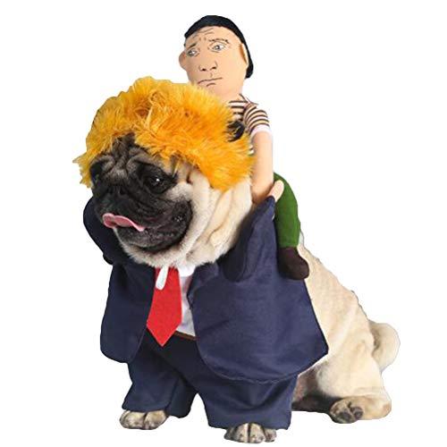 WORDERFUL Hundekostüm/Hundekostüm, mit Hut, weich, 3 Stück,