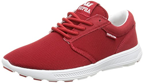Supra Hammer Run, Baskets Basses Mixte Adulte Rouge (Cardinal/Off White)