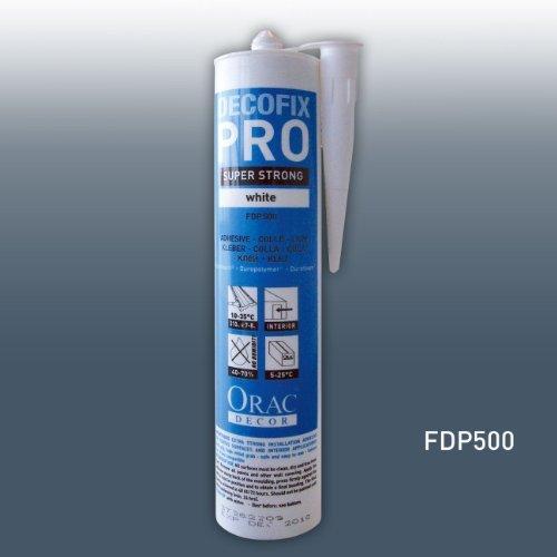 Montagekleber Acrylkleber Orac Decor FDP500 Kleber DecoFix Pro Acryl Kartusche 310 ml   Für Zierleisten und Paneele
