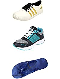 Jabra Perfect Combo Pack Of 2 Shoes- Sneakers And Loafers & Slippers For Men In Various Sizes - B06XTTD5WP