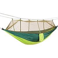 DaiHan Camping Hamaca con mosquitera Ligero Nylon paracaídas Hamaca Hamaca de Carga para jardín al Aire