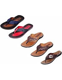 Indistar Boy 100 % PU Flip Flop House Slipper And Sandal- Pack Of 5 Pairs-MultiColor - B072HZ3G9V