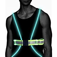 Atlecko - LED Running Vest & Belt, 360 Degrees High Visibility with Reflective Belt for Safety, Running and Cycling