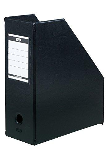 ELBA 100400637 Stehsammler myColour 5er Pack aus PVC 11 cm breit Zeitschriftenbox schwarz hochwertiger Zeitschriften-Sammler