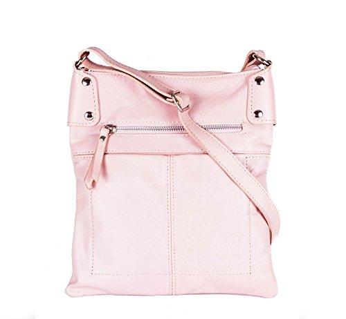 Moretti Milano , Sac pour femme à porter à l'épaule Bleu rose