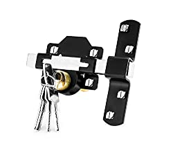 Concise Home 50mm Double Long Throw Gate Lock 5 Keys Garden Locking Both Sides